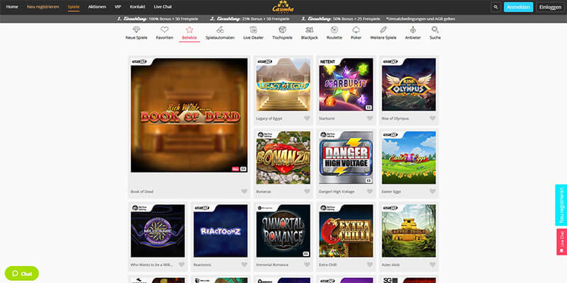 Casimba Casino Spiele