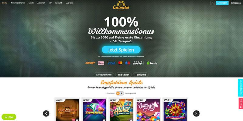 Casimba Casino Startseite