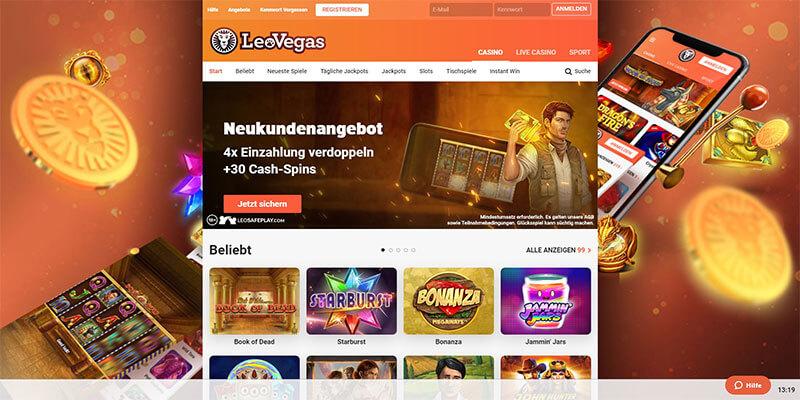 LeoVegas Casino Startseite