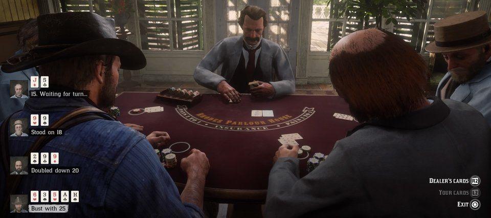 RDR 2 Blackjack Mini Spiel