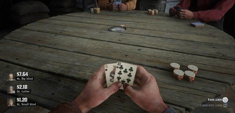 RDR 2 Poker Tisch
